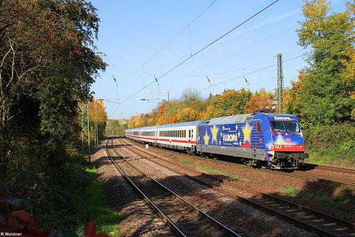 """101 101 """"Europa"""" durchfährt mit IC 2351 nach Stuttgart am schönen Herbstsonntag den Saarbrücker Stadtteil St.Johann, 21.10.2012"""
