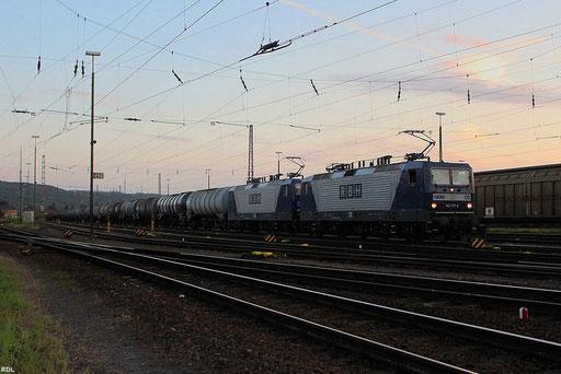 RBH 120+126 (143 097+143 217) mit Kesselwagenganzzug im Gbf Ehrang 05.09.12