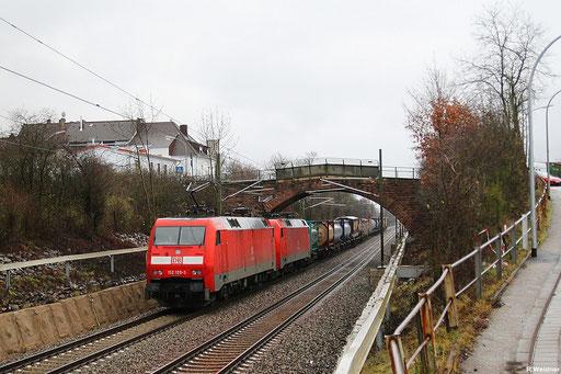 DT 152 129 + 152 007 mit KT 50594 Saarbrücken Rbf - Köln Eifeltor, SB-Burbach 21.12.12