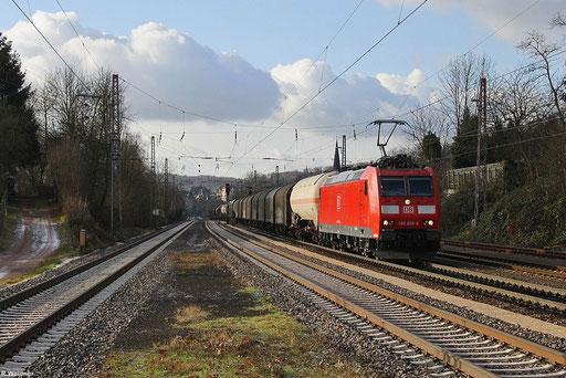 """""""Frachtenzug"""" EZ 44241 Woippy - Mannheim Rbf mit 185 029 in Dudweiler , 06.12.2012"""