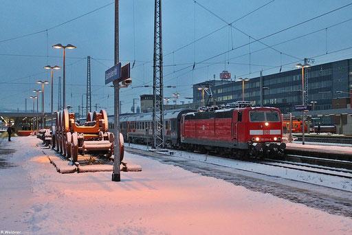 das letzte mal verlässt EN 452 aus Moskau den Saarbrücker Hbf mit 181 204 , 07.12.2012