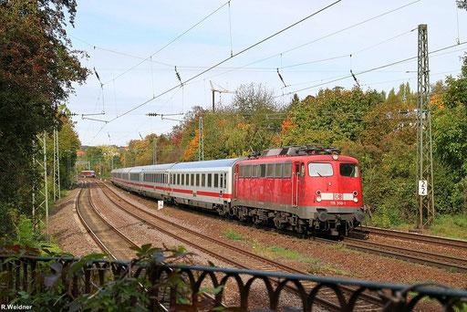 kurz danach kam dann 115 350 mit IC 2059 Saarbrücken Hbf - Frankfurt(Main) Hbf