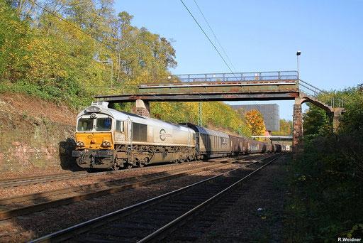 """ECR 77 005 mit """"MARS-Tierfutterzug"""" EZ 44226 Saarbrücken Rbf - Forbach (Les Aubrais-Orléans) auf der Güterumfahrung in Saarbrücken,  21.10.2012"""