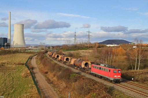 139 557 mit GM 61830 Dillingen Hütte - Völklingen am 25.11.2012 in der November - sonne zwischen Ensdorf und Bous
