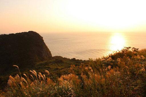 穏やかな海 それから夕焼け