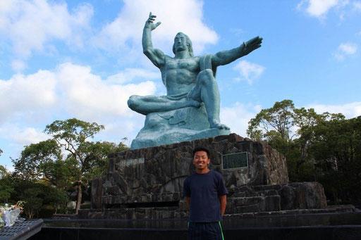 平和記念公園にて・・・