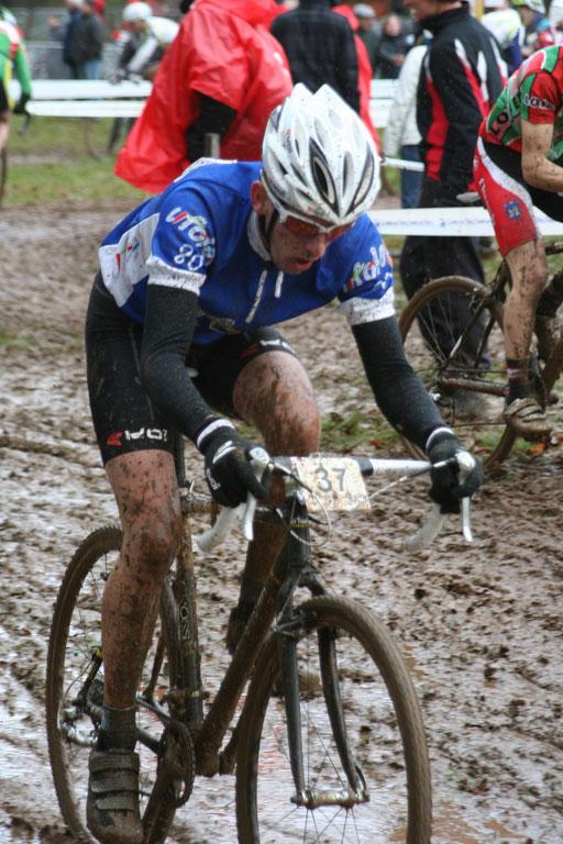 Jérémy Leprince au Championnat National Cyclo-cross Ufolep à Cluis (36) le 3 Février 2013