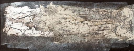 2011 I Rinde I 25/50 I Acryl, Reisslack auf Leinwand