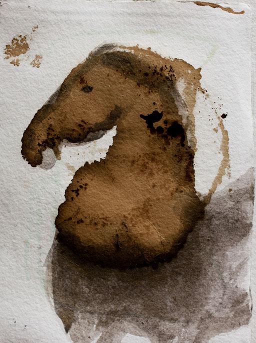 2011 I Pferd I 25/30 I Acryl auf Papier