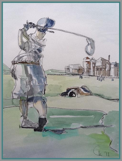 Teed off   (St. Andrews),     (Sammlung Peter K.)