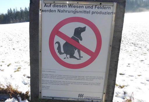 Hunde verboten! Hier werden Nahrungsmittel auf Wiesen produziert ... Wie?