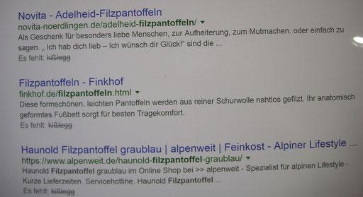 """Filzpantoffel """"Ich hab Dich lieb"""" ..."""