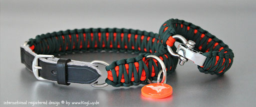 KingLuy Paracord Halsband verstellbar Double