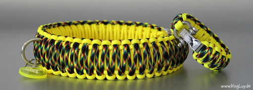 KingLuy Paracord Halsband Galaxy Cross