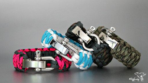 KingLuy Paracord Armbänder verstellbar