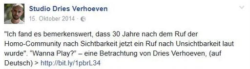 Facebook-Seite Dries Verhoeven
