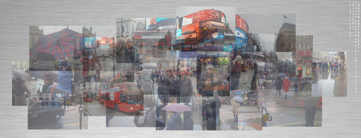 French People on Picadilly Circus 139 x 89 cm - copyright Anna POULIN