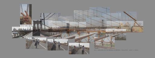 Coup de chance, on traverse le pont sous 27 degrés après un hiver très froid