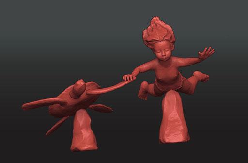 Modélisation 3D de la sculpture
