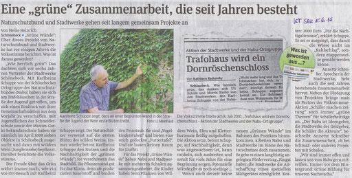 Volksstimme Schönebeck vom 15. Juni 2016 (Heike Heinrich)