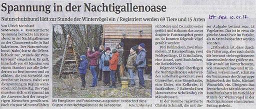 Volksstimme Schönebeck vom 10. Januar 2017 (Ulrich Meinhard)