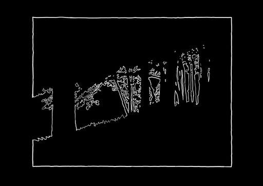 Waldrand, 30x40cm, digitale Zeichnung nach Fotografie, Inkjet auf Papier, 2012