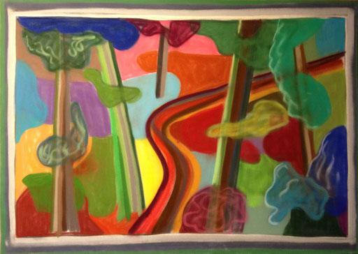 Der ausdrückliche Wald, 50x70cm, Pastell auf Velourspapier, 2013