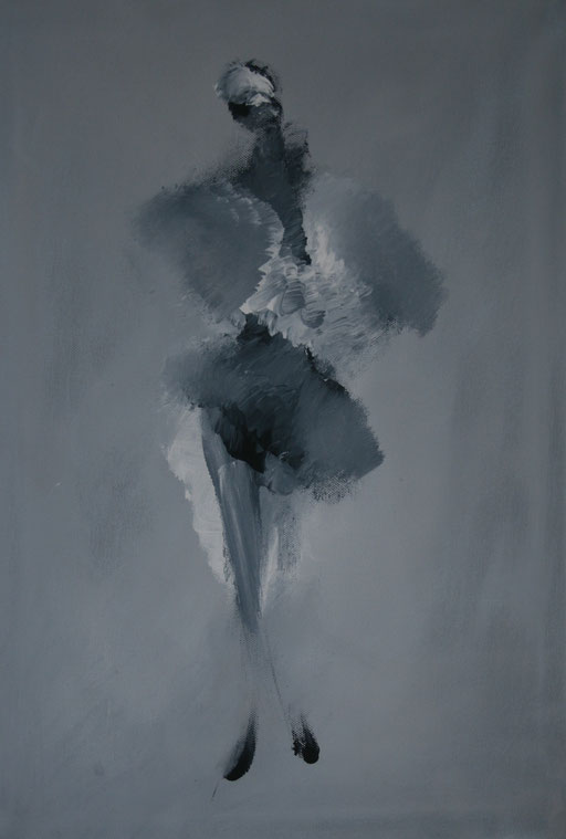 Imaginaire 2021-10, acrylique sur toile, 55 x 38