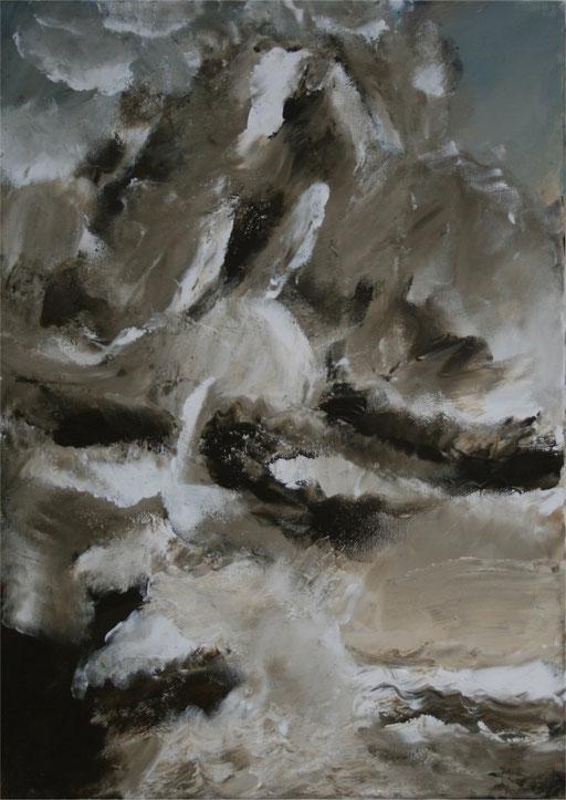 Imaginaire 2011-04 tsunami 3, acrylique sur toile, 70x50
