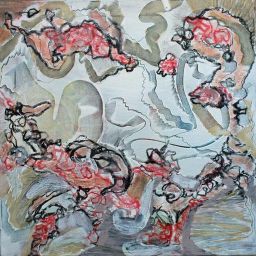 Floating, Acryl auf Leinwand, 60 x 60 cm, 2021