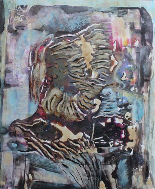 Shrewd, Acryl auf Papier, 50 x 60 cm