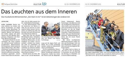 """Vorbericht """"Flachgauer Nachrichten"""" vom 2.12.2015"""