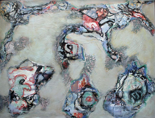 Wobbeling, Acryl auf Leinwand, 60 x 80 cm, 2021