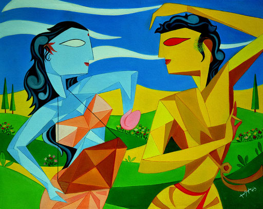 Basant_Raag_With_Ragini_Hindoli_Oil_Painting_Amar_singha