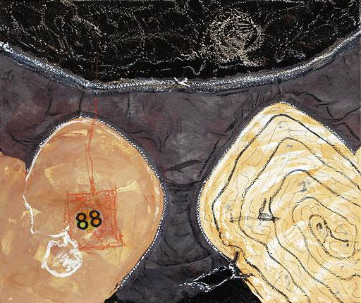"""88   2014   Mixed media on canvas   50x60cm   19.7""""x23.6"""""""