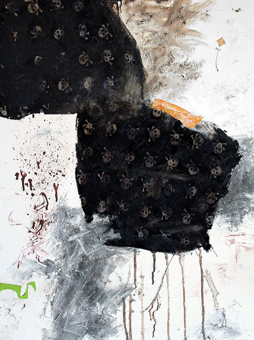"""Scorched earth   2014   Mixed media on canvas   80x60cm   31.5""""x23.6"""""""