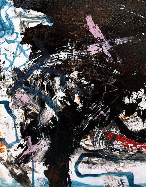 """X   2014   Mixed media on canvas   70x50cm   27.6""""x19.7"""""""