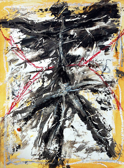 """Untitled  2014   Mixed media on heavy watercolor paper   40x30cm   15.7""""x11.8"""""""
