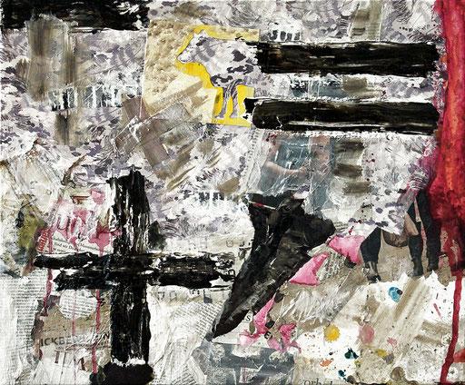 "Untitled   2014   Mixed media on canvas  50x60cm   19.7""x23.6"""