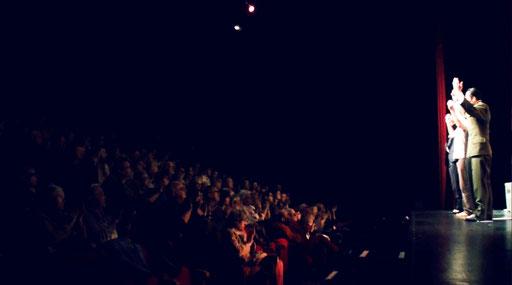 Pascale denizane, Helmi Dridi, Véronique Picciotto et Anatole Thibault dans À NU adaptation et Mise en scène Marc SAEZ au Vingtième théâtre