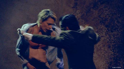 Véronique Picciotto et Anatole Thibault dans À NU adaptation et Mise en scène Marc SAEZ au Vingtième théâtre
