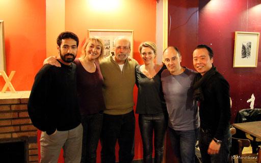 Tom Fontana avec toute l'équipe de À NU à Paris