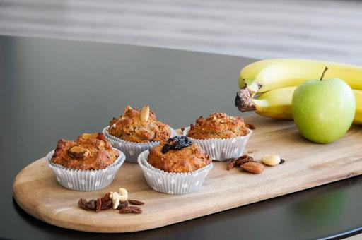 Apfel-Walnuss-Muffins | fruchtig, saftig & gesund