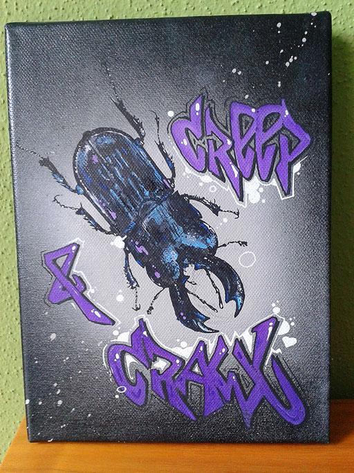 """""""Creep & Crawl"""", 17,5 x 24 cm"""
