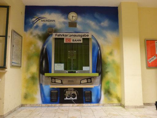 Auftragsarbeit für die Bayerische Oberlandbahn in Übersee / Chiemsee