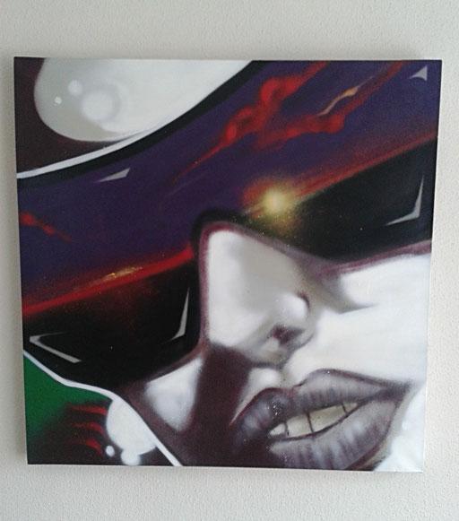 """Lady Sunset"", 80 x 80 cm"