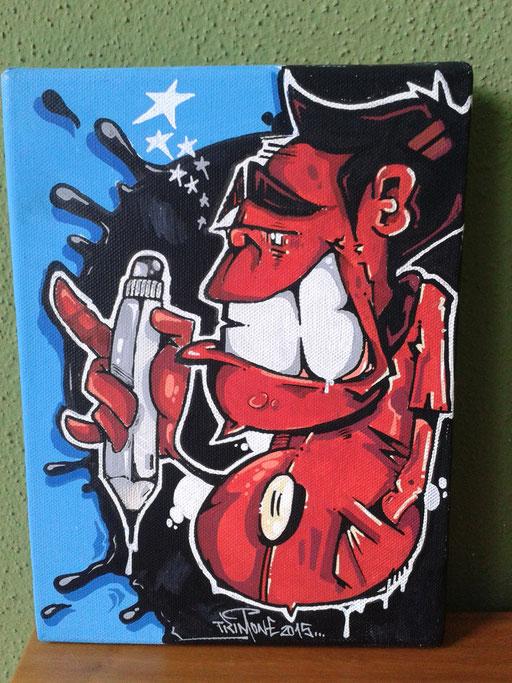 """""""Mr. Red"""", 17,5 x 24 cm"""