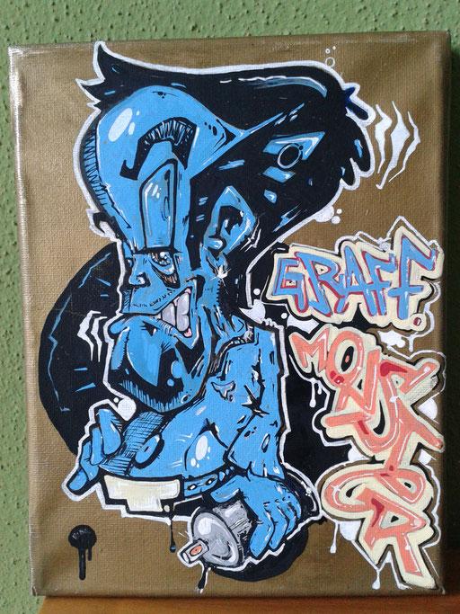 """""""Graff Monster"""", 17,5 x 24 cm"""