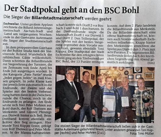 Eschweiler Zeitung vom 08.12.2016