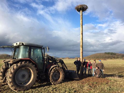 05. März: Der neue Mast steht! - Foto: Björn Behrendt